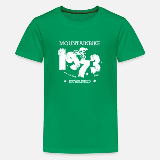 Mountains T-Shirts - 1973 - Kids' Premium T-Shirt kelly green