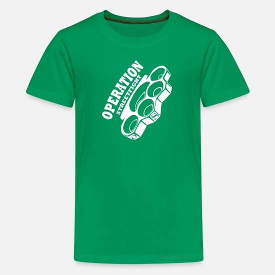Movie T-Shirts - operation streetfight Hools Hooligan Boxen Fight - Kids' Premium T-Shirt kelly green
