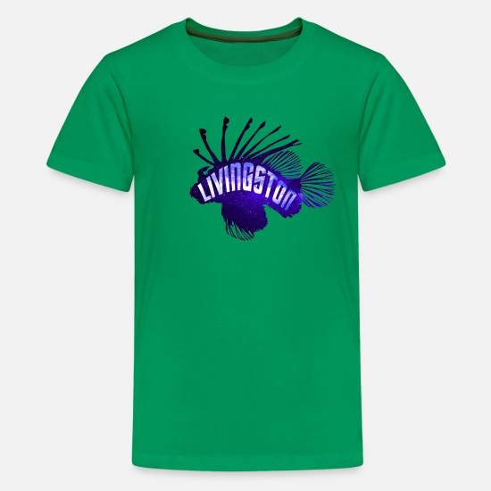 Fishing T-Shirts - Picard's fish Livingston - Kids' Premium T-Shirt kelly green