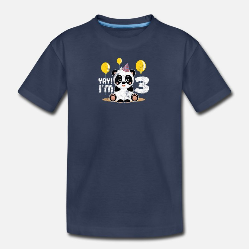 Kids Premium T ShirtCute 3rd Birthday Panda Kid Boy Girl 3 Years Old