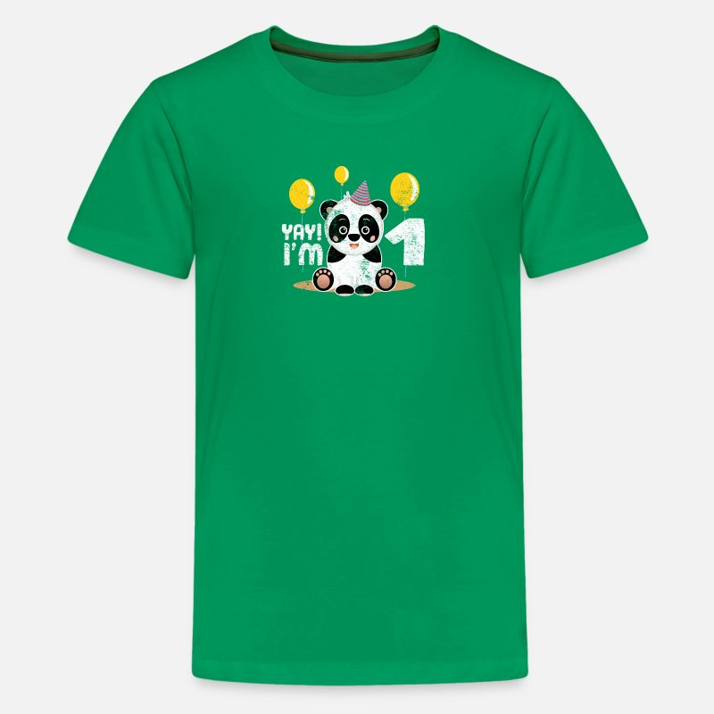Kids Premium T ShirtCute 1st Birthday Panda Kid Boy Girl 1 Years Old