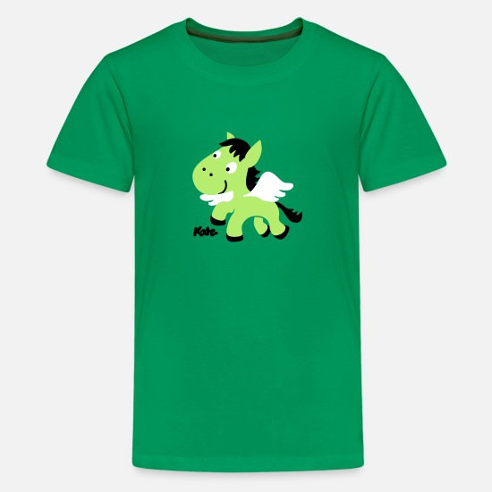 Olympus T-Shirts - Pegasus - Kids' Premium T-Shirt kelly green