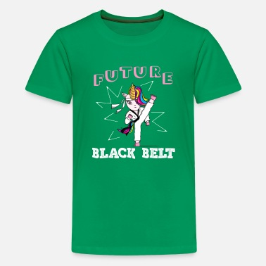 Girl Future Black Belt Gift - Kids' Premium T-Shirt