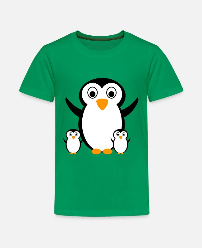 Party T-Shirts - Penguin with children penguins - Kids' Premium T-Shirt kelly green