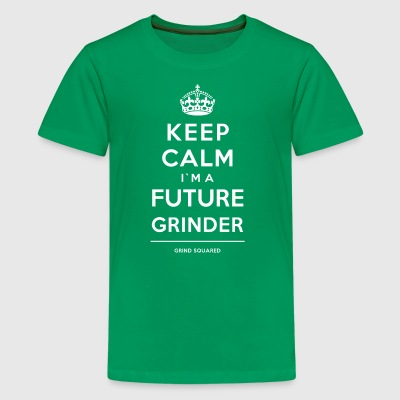 Born To Grind - Keep Calm I'm A Future White - Kids' Premium T-Shirt