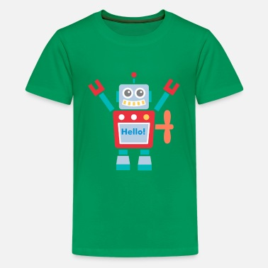Red Robot cute red robot toy - Kids' Premium T-Shirt