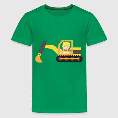 construction excavator - Kids' Premium T-Shirt