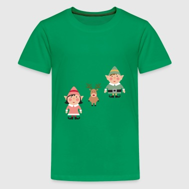 2 Elves & a Raindeer - Kids' Premium T-Shirt