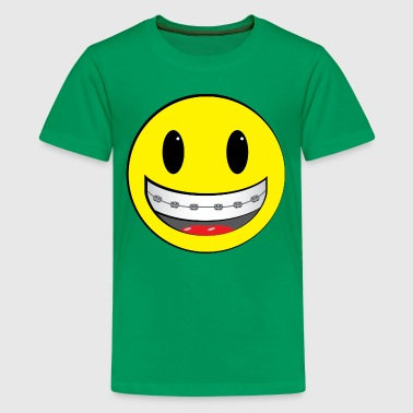 Smiley Face with Braces - Kids' Premium T-Shirt