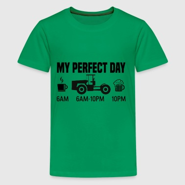 My perfect day - Tractor farmer gift - Kids' Premium T-Shirt