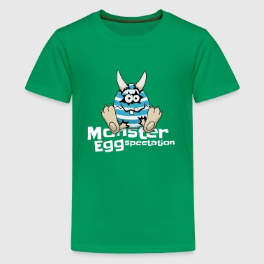 Monster EGG-spectation expectations easter gift - Kids' Premium T-Shirt