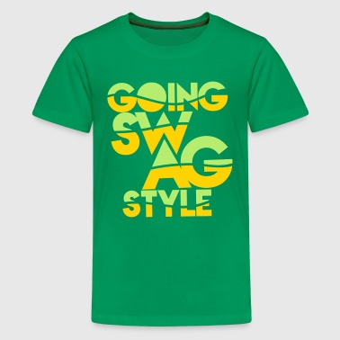 GOING SWAG STYLE two color - Kids' Premium T-Shirt