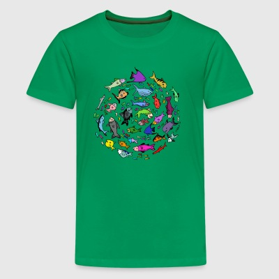 A Swirl of Fish - Kids' Premium T-Shirt