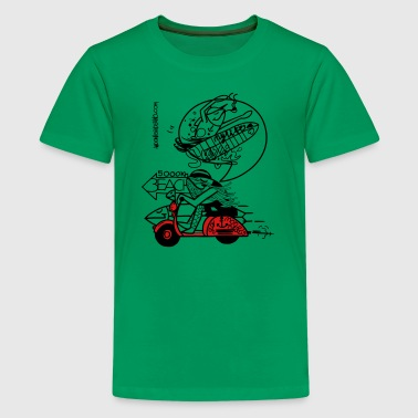 Tuna Man Vespa 2 Color - Kids' Premium T-Shirt