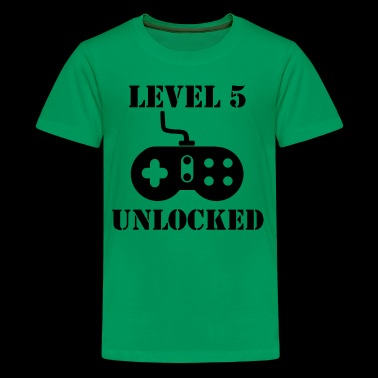 Level 5 Unlocked Video Games 5th Birthday - Kids' Premium T-Shirt