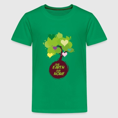 Tree with hearts - Our Earth Our Home - Kids' Premium T-Shirt
