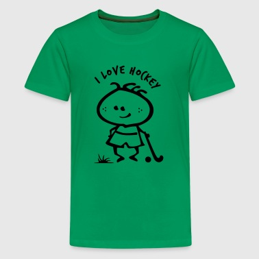 Field Hockey Boy -I loveHockey - Kids' Premium T-Shirt
