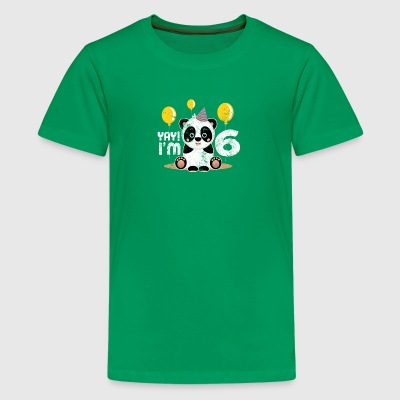Cute 6th Birthday Panda Kid Boy Girl 6 Years Old - Kids' Premium T-Shirt