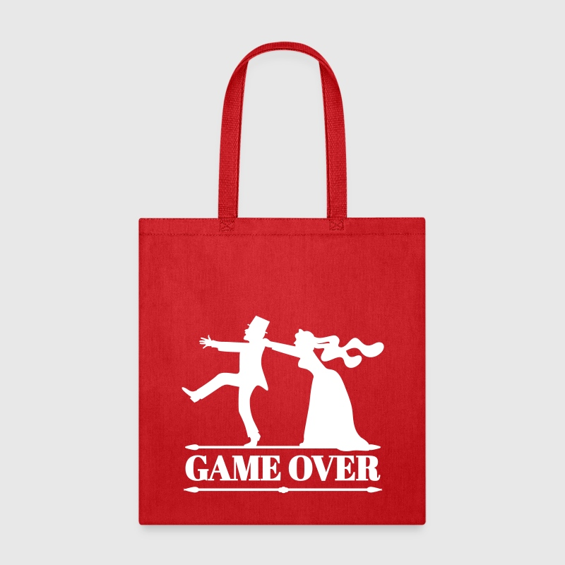 game over bride groom bachelor bachelorette party  - Tote Bag