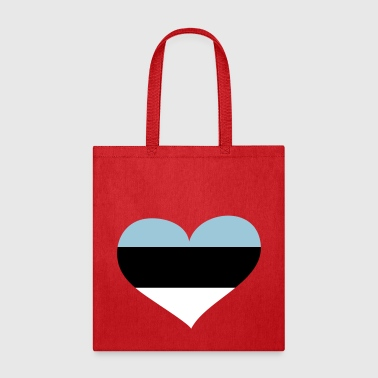 Estonia Heart; Love Estonia - Tote Bag