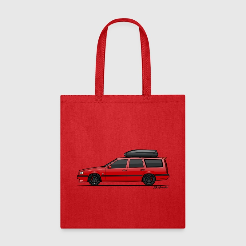 Volvo 850R 855R T5-R Red Swedish Turbo Wagon - Tote Bag