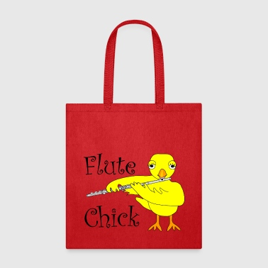 Flute Flute Chick Text - Tote Bag