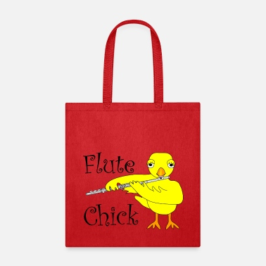 Band Flute Chick Text - Tote Bag