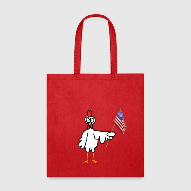 Patriotic Chicken - Tote Bag