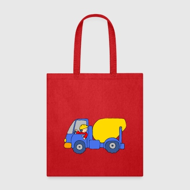 Concrete Mixer Truck - Tote Bag