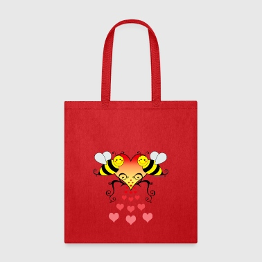 Bumble Bees With Hearts - Tote Bag
