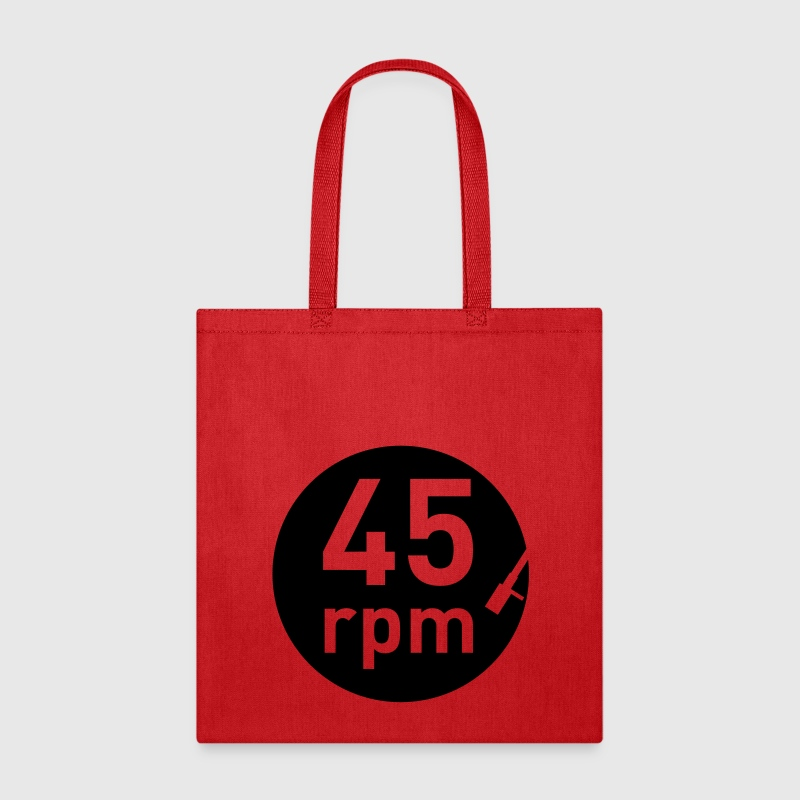 45rpm record player DJ club music sound DJane - Tote Bag