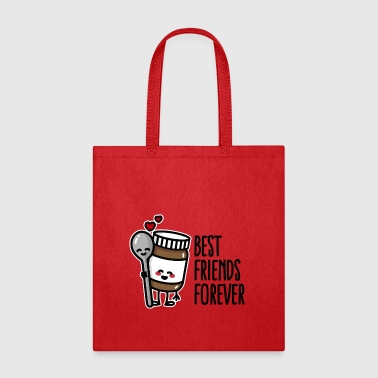 Best friends forever chocolate spread / spoon BFF - Tote Bag