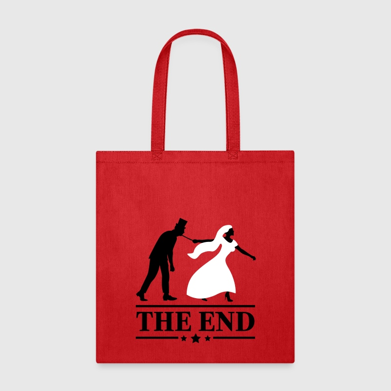 game over bride and groom wedding stag night end - Tote Bag