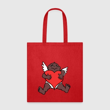 African Cupid Valentine's Art - Tote Bag