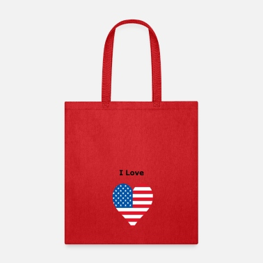 Bursdag I Love USA - Tote Bag
