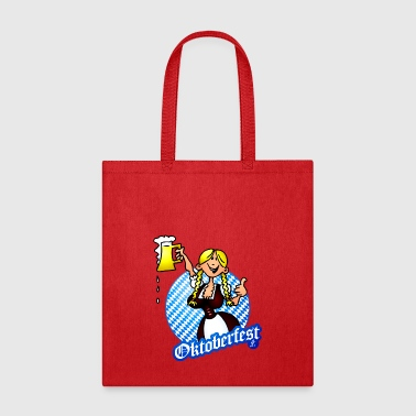 Oktoberfest - girl in a dirndl - Tote Bag