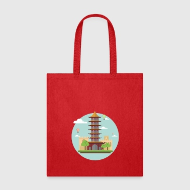 asian tower - Tote Bag