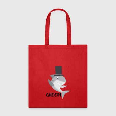 Shark Groom, Shark Wedding Matching Shirt - Tote Bag