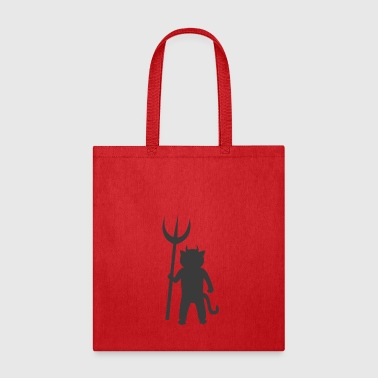 Satan Cat with trident - Tote Bag