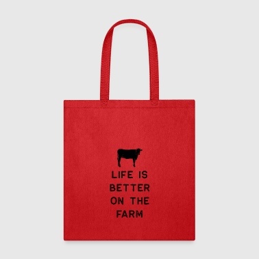 Black Sheep Farming Shirt Life Is Better On The Farm Black Cute Gift Farm Country USA - Tote Bag