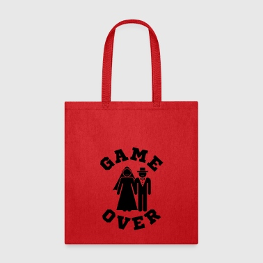 Over Game Over Tees Funny Wedding Video Gamer Groom - Tote Bag