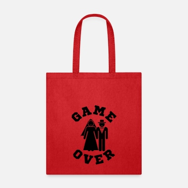 Bachelor Party Game Over Tees Funny Wedding Video Gamer Groom - Tote Bag