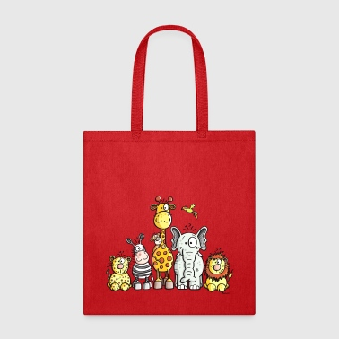 Happy African Animal Team - Tote Bag