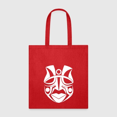 ancient tribal indian mask wise chief white - Tote Bag