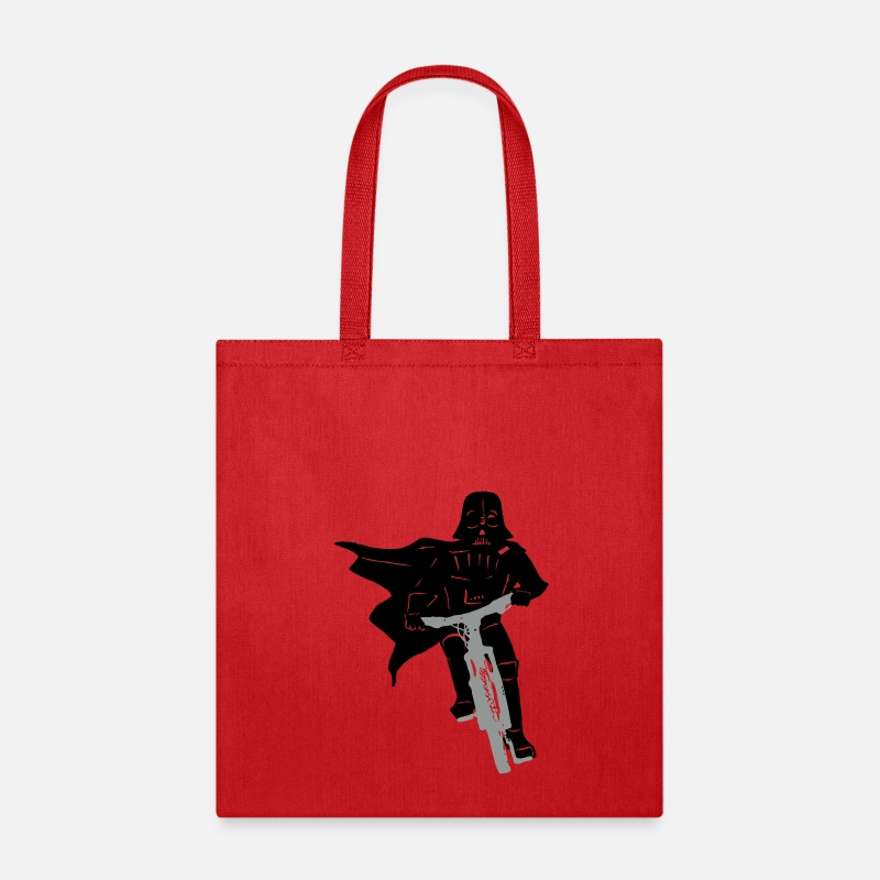 Darth Bags & backpacks - Darth Vader - Chad Vader - Riding A Bike - Tote Bag red