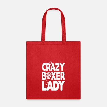 crazy boxer lady shirt - Tote Bag
