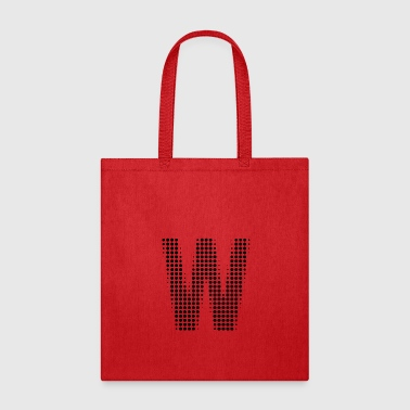 Letter W dot pattern gift - Tote Bag