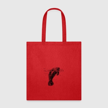 Manatee Manatee Illustration - Tote Bag