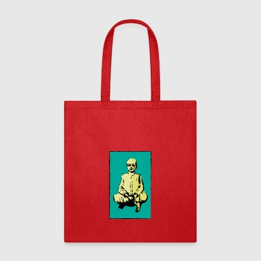 man sitting - Tote Bag