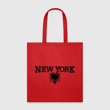 New York Albanian Flag Clothing Apparel Tee - Tote Bag